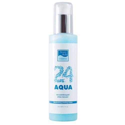 Beauty Style крем-пилинг для лица Aqua 24 увлажняющий 200 мл смягчающий крем beautystyle