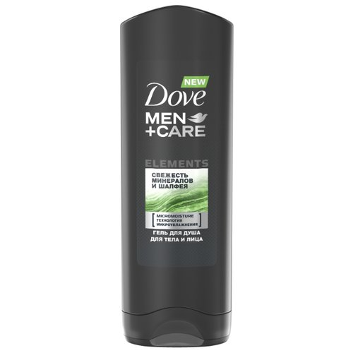 Гель для душа Dove Men+Care Elements Свежесть минералов и шалфея 250 млДля душа<br>