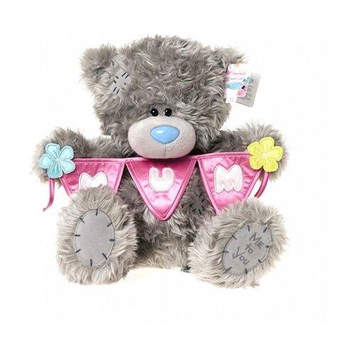Мягкая игрушка Me to you Мишка Тедди с гирляндой флажков MUM 25 см