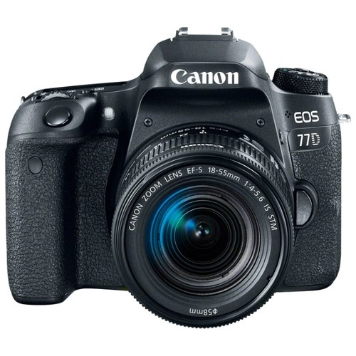 Фотоаппарат Canon EOS 77D Kit черный EF-S 18-55mm f/4-5.6 IS STM