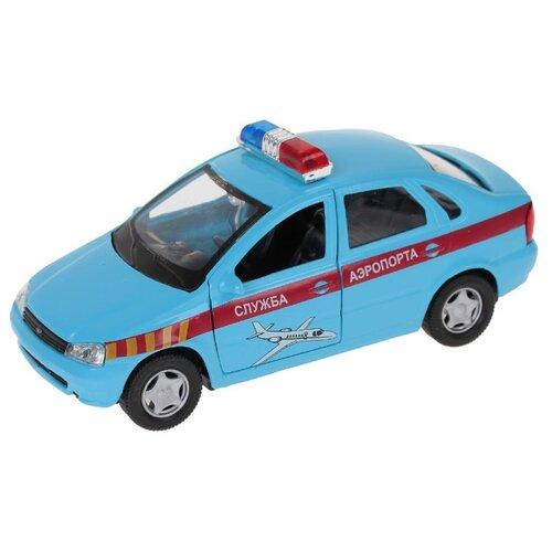 Легковой автомобиль Autogrand Lada Kalina служба аэропорта (11499) 1:34 14 см голубой/красный