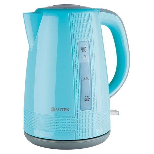 Чайник VITEK VT-7001, голубой чайник vitek vt 7001 голубой