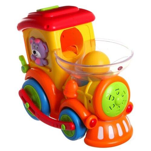 Купить Интерактивная развивающая игрушка Play Smart Веселый паровозик оранжевый, Развивающие игрушки