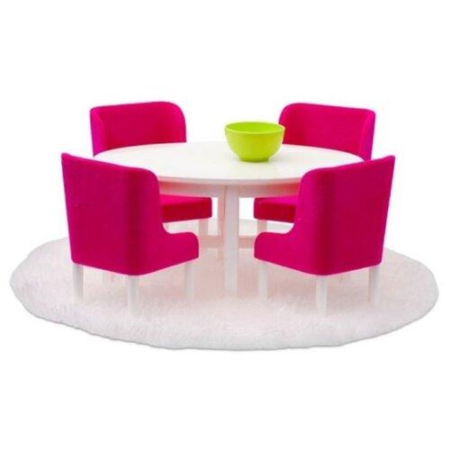 Купить Lundby Набор мебели для столовой Смоланд (LB_60208000) розовый/белый, Мебель для кукол