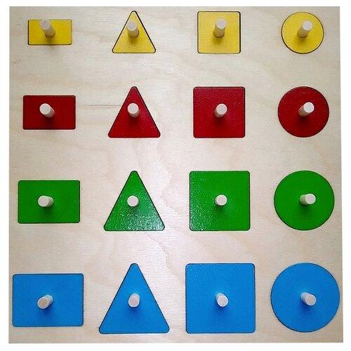 Рамка-вкладыш Крона Геометрические формы (143-067), 16 дет. рамка вкладыш крона азбука в картинках 143 073 50 дет