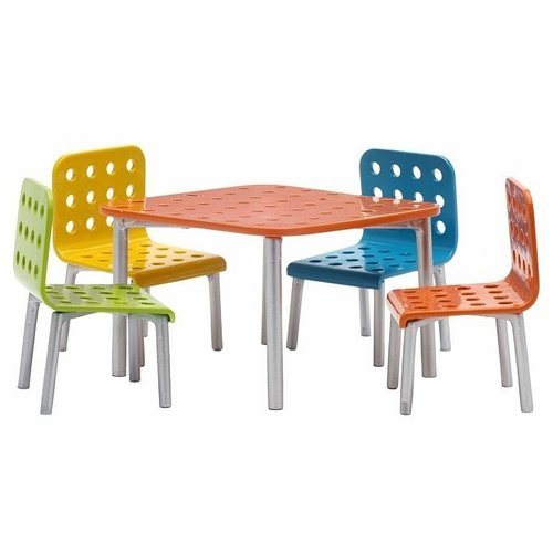 Купить Lundby Набор мебели для террасы Стокгольм (LB_60905000) красный/серый, Мебель для кукол