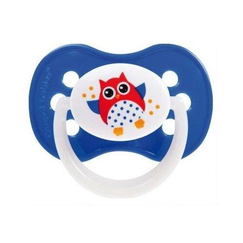 Купить Пустышка силиконовая анатомическая Canpol Babies Owls 6-18 м (1 шт) cиний, Пустышки и аксессуары