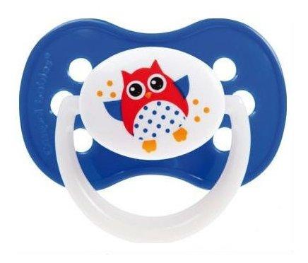 Пустышка силиконовая анатомическая Canpol Babies Owls 6-18 м (1 шт)