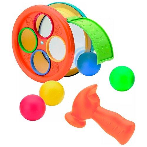 Купить Стучалка B kids Арена с молоточком желтый/оранжевый/зеленый/голубой, Развитие мелкой моторики