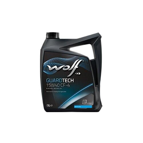 Минеральное моторное масло Wolf Guardtech 15W40 CF-4, 5 л