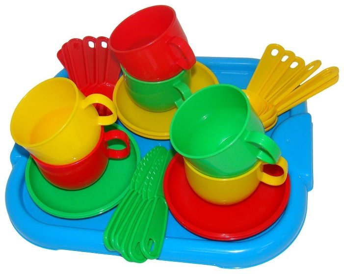 """Набор посуды Полесье """"Минутка"""" с подносом на 6 персон 9547 фото 1"""