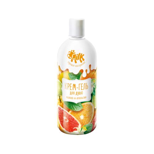 Крем-гель для душа MILK Молоко и апельсин, 800 мл