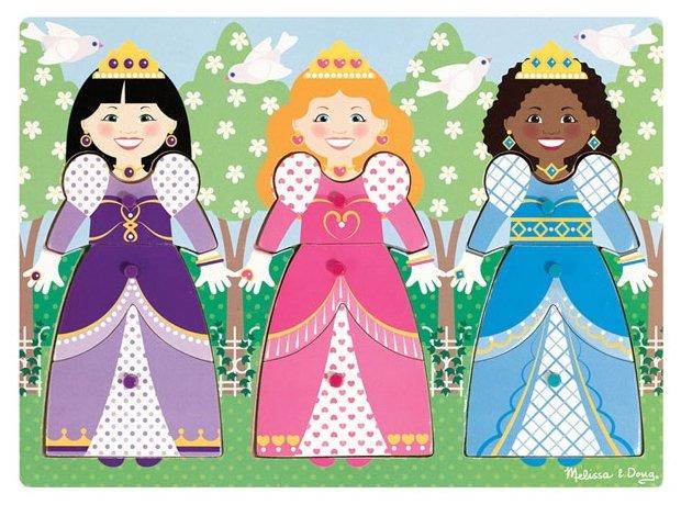 Рамка-вкладыш Melissa & Doug Наряди принцессу (9056), 9 дет.