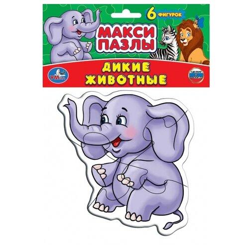 Купить Набор пазлов Умка Макси Дикие животные (4690590116029), Пазлы