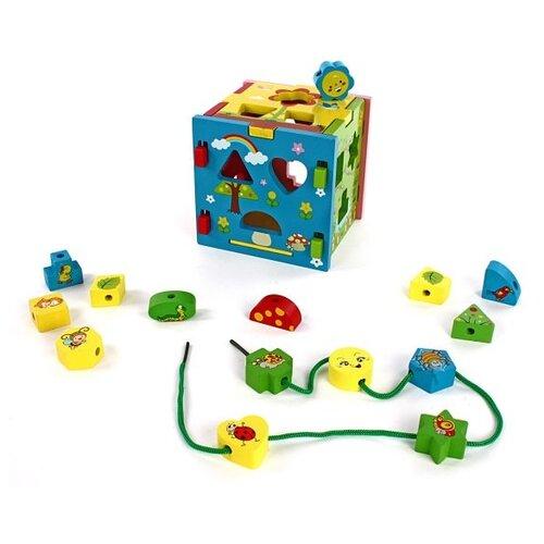 Сортер Mapacha Радужный кубик недорого
