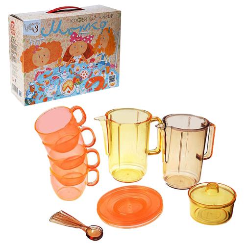 Набор посуды Росигрушка Мокко 2171 желтый/коричневый/оранжевый росигрушка набор игрушечной посуды первый блин