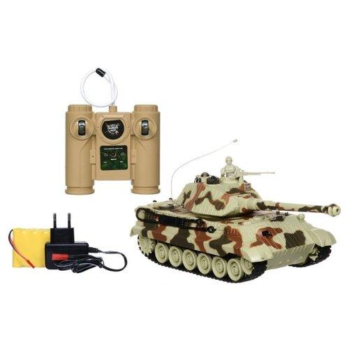 Купить Танк Пламенный мотор King Tiger (87554) 1:28 камуфляж, Радиоуправляемые игрушки