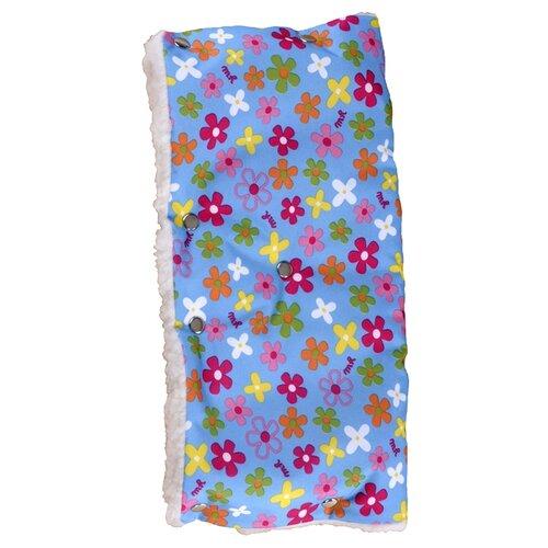 Купить Чудо-Чадо Муфта для рук меховая Комфорт цветочки, Аксессуары для колясок и автокресел