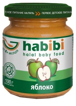 Пюре Habibi яблоко (с 4 месяцев) 100 г, 1 шт.