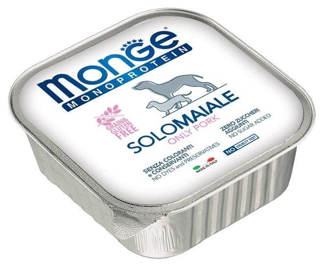 Корм для собак Monge Monoproteico Solo – Монобелковый паштет для собак из свинины