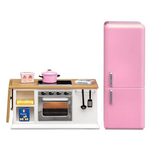 Купить Lundby Кухонный набор с холодильником Смоланд белый/розовый, Мебель для кукол