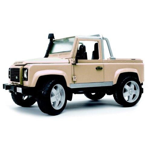 Фото - Внедорожник Bruder Land Rover Defender (02-591) 1:16 28 см бежевый внедорожник bruder jeep cross counrty racer 02 541 29 см голубой