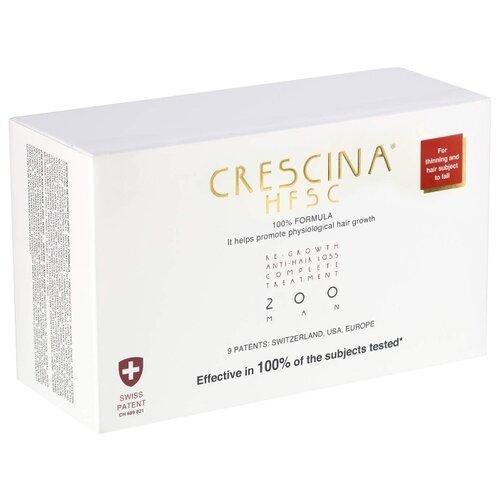 Crescina Ампулы комплекс для мужчин, дозировка 200: умеренное выпадение волос, 3.5 мл, 40 шт. ducray неоптид лосьон от выпадения волос для мужчин 100 мл