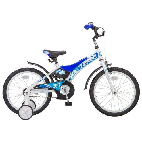 """Детский велосипед STELS Jet 18 Z010 (2018) белый/синий 10"""" (требует финальной сборки)"""