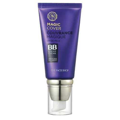 TheFaceShop BB крем Couvrance Magique Magic Cover, SPF 20, 45 мл, оттенок: v201 apricot beige deoproce bb крем magic spf 45 60 мл оттенок 23 sand beige