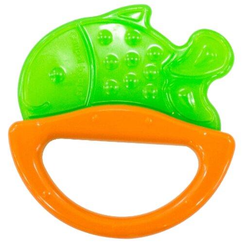 Купить Прорезыватель-погремушка Canpol Babies Rattle with soft bite teether 13/107 зеленая рыбка, Погремушки и прорезыватели