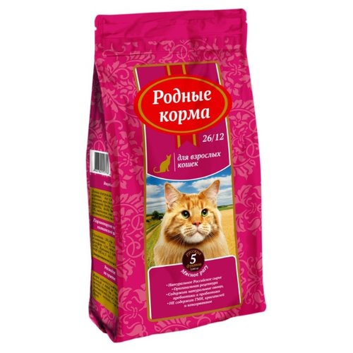 Корм для кошек Родные корма (2.045 кг) Сухой корм для взрослых кошек мясное рагуКорма для кошек<br>