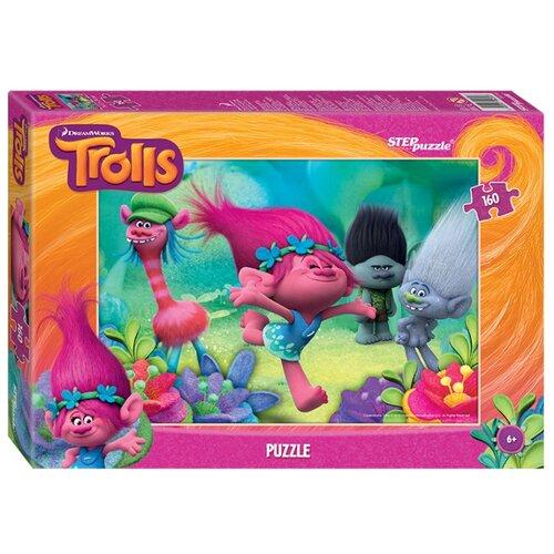 Фото - Пазл Step puzzle DreamWorks Trolls (94056), 160 дет. пазл step puzzle dreamworks trolls 94056 160 дет