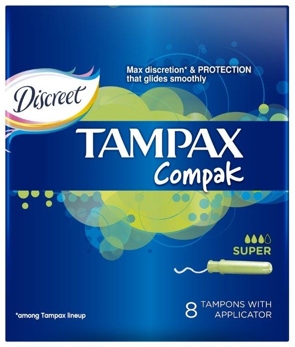 TAMPAX тампоны Compak Super 8 шт.