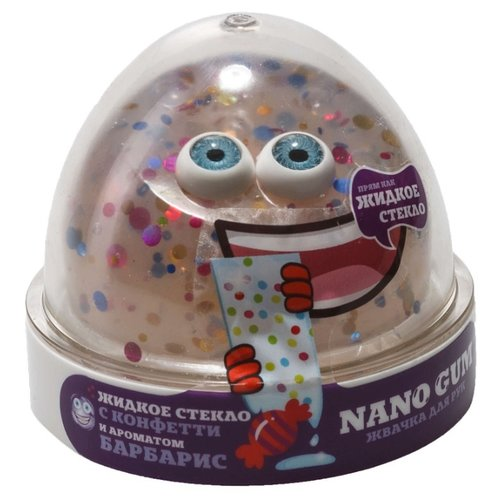 Жвачка для рук NanoGum жидкое стекло с ароматом барбарис 50 гр (NGLGAB50)