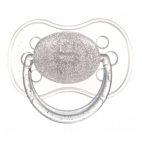 Купить Пустышка латексная классическая Canpol Babies Moonlight 0-6 м (1 шт) серебристый, Пустышки и аксессуары