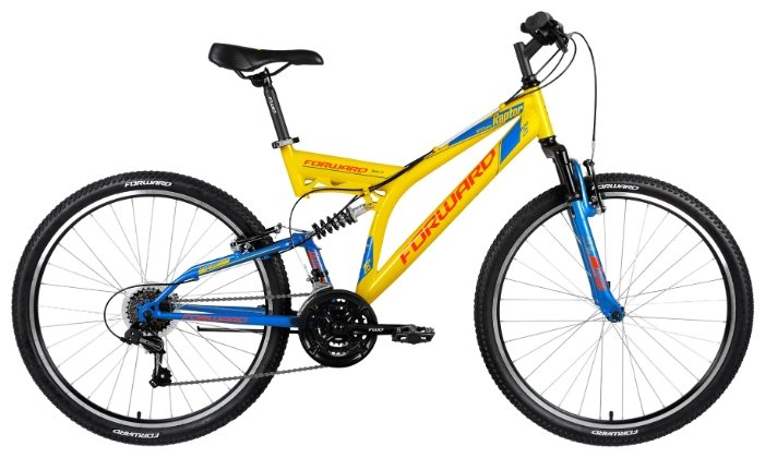 Велосипед FORWARD Raptor 1.0 (2018) синий 18 ростовка