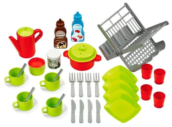 Набор продуктов с посудой Ecoiffier и сушилкой