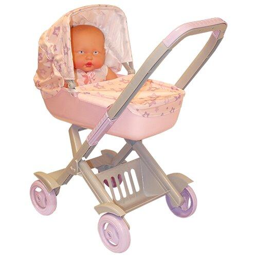 Купить Коляска-люлька ОГОНЁК Большая для пупсов С-1498 розовый, Коляски для кукол