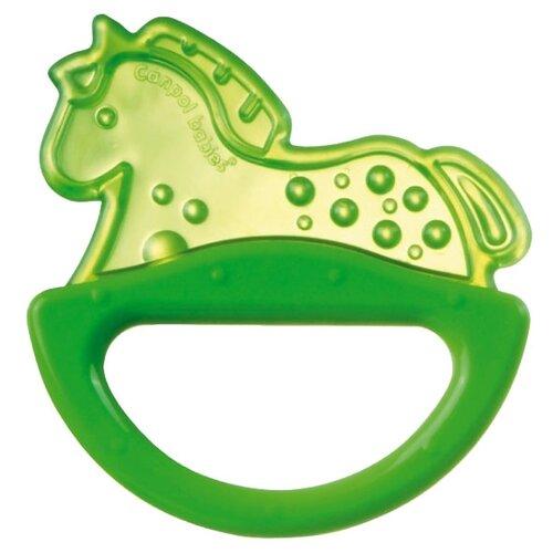 Прорезыватель-погремушка Canpol Babies Rattle with soft bite teether 13/107 зеленая лошадкаПогремушки и прорезыватели<br>
