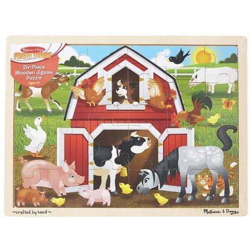 Купить Пазл Melissa & Doug Животные на ферме (9061), элементов: 24 шт., Пазлы