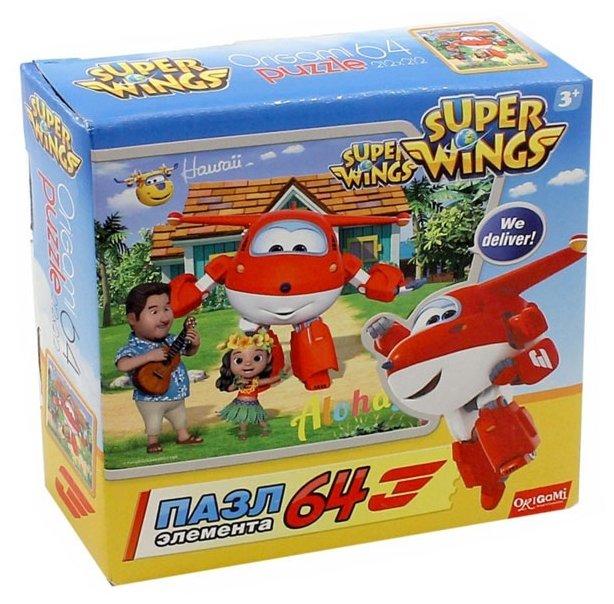 Пазл Origami SuperWings Гавайские каникулы (02814), 64 дет.