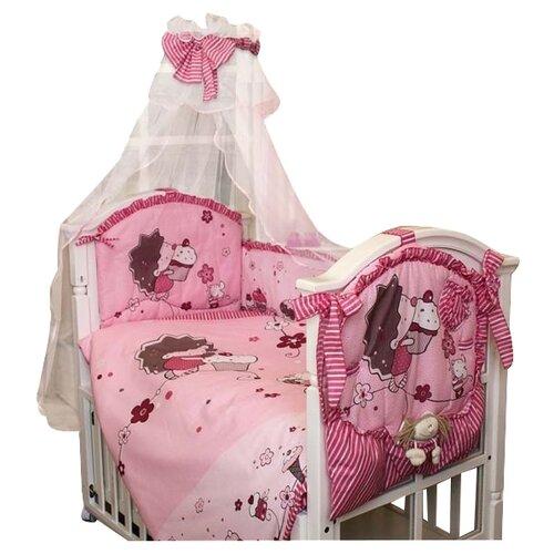 Купить Золотой Гусь комплект Ёжик Топа-Топ (8 предметов) розовый, Постельное белье и комплекты