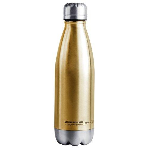 Термобутылка asobu Central park travel bottle (0,51 л) золотой/серебристый термос фляга asobu central park