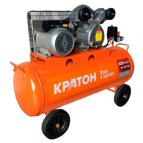 Компрессор масляный Кратон AC-300-100-BDV, 100 л, 1.5 кВт компрессор масляный кратон ac 360 100 ddv 100 л 2 2 квт