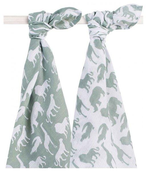 Многоразовые пеленки jollein муслин 115х115 комплект 2 шт