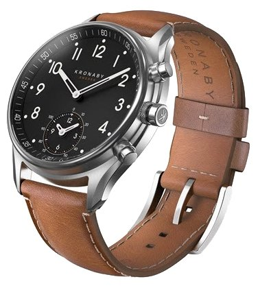 Часы Kronaby Apex (brown leather strap)