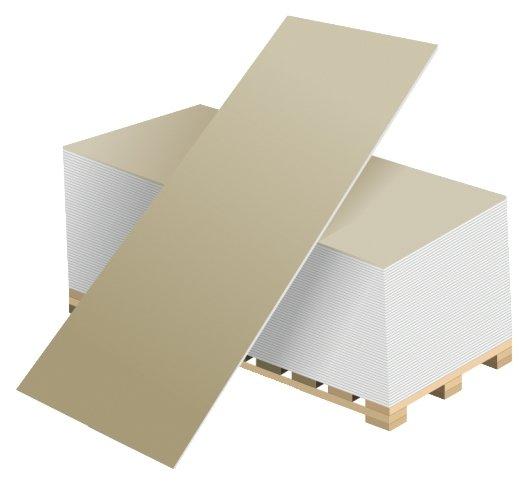 ГКЛ (гипсокартонный лист обычный Волма 1200х2500) 12,5 мм