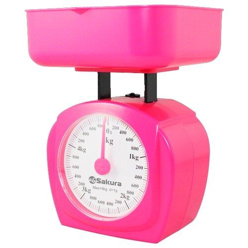 Кухонные весы Sakura SA-6017 розовый