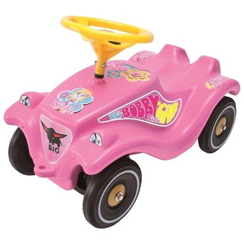 Каталка-толокар BIG Bobby Car Classic Girlie (56029) со звуковыми эффектами розовый big машинка big bobby car racer