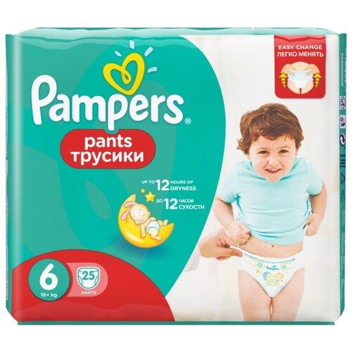 Купить Pampers трусики Pants 6 (16+ кг) 25 шт., Подгузники